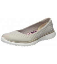 Skechers Microburst One Up Natural Womens Slipon Shoes
