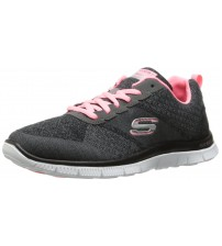 Skechers Flex Appeal Simply Sweet Grey Womens Trainers Shoes
