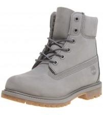 Timberland 6 Inch Premium Grey Womens Leather Boots