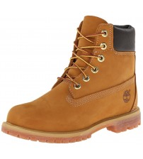 Timberland 6 Inch Premium Wheat Yellow Womens Leather Boots