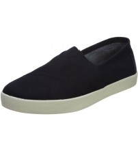 Toms Avalon Black White Mens Canvas Sneakers Shoes Slipons