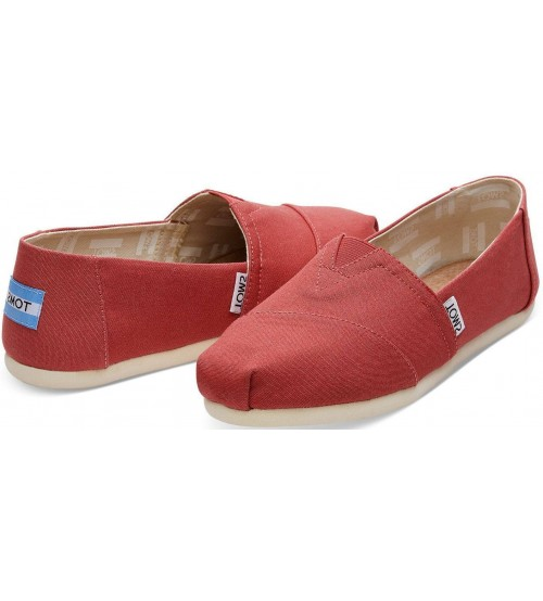 Toms Classic Faded Rose Womens Canvas Espadrilles Shoes
