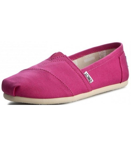 Toms Classic Fuchsia Womens Canvas Espadrilles Shoes