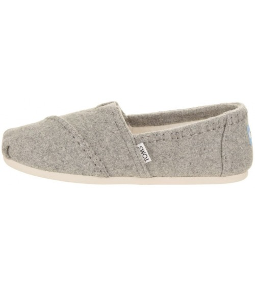 TOMS Classic Grey Shearling Womens Espadrilles Shoes-5 HPHCPsngP