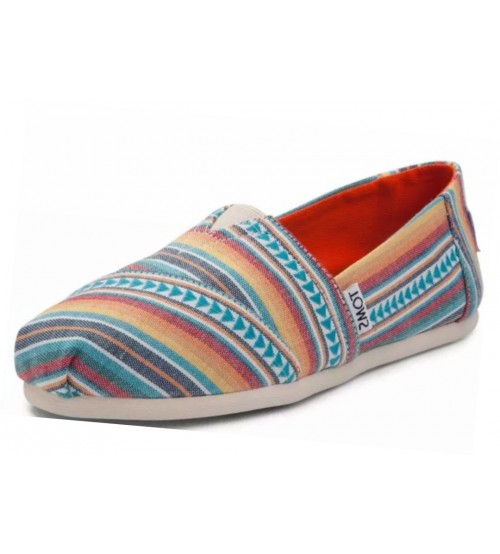 Toms Classic Multi Blanket Stripe Womens Espadrilles Shoes