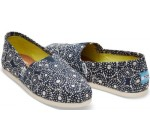 Toms Classic Navy Shibori Dots Womens Espadrilles Shoes