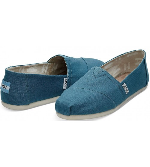 Toms Classic Peacock Womens Canvas Espadrilles Shoes