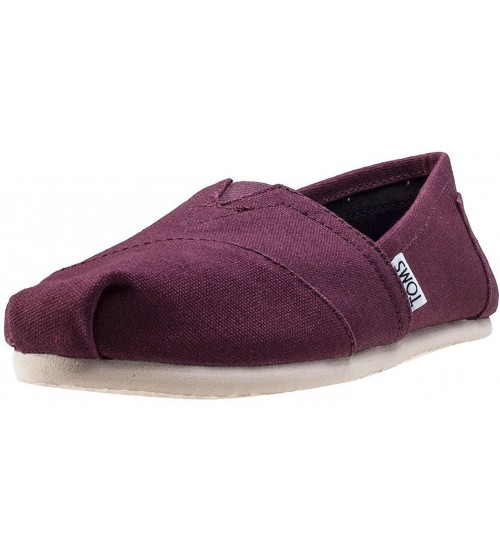 Toms Classic Red Mahogany Womens Canvas Espadrilles Shoes
