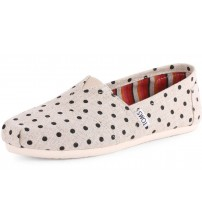 Toms Classic Natural Polka Dot Womens Canvas Espadrilles Shoes