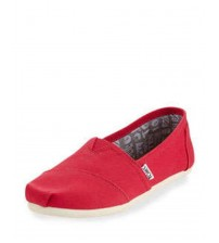 Toms Classic Barberry Pink Womens Canvas Slipons