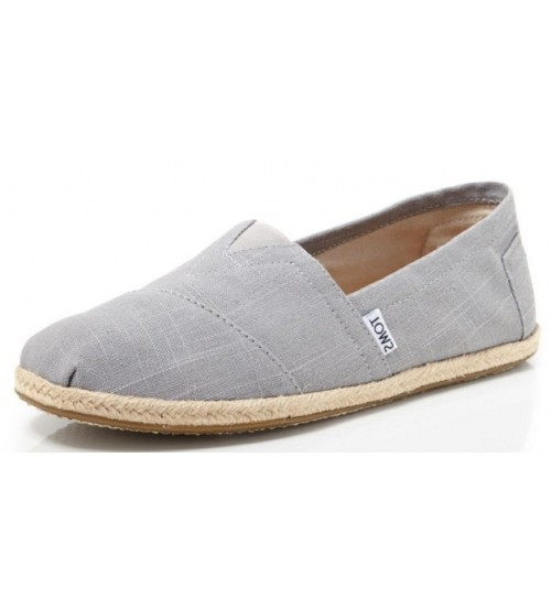 Toms Classic Grey Linen Mens Canvas Slipons