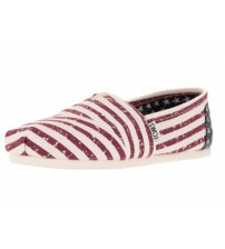 Toms Classic Americana Flag Womens Canvas Espadrilles Shoes Slipons