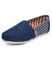 Toms Classic Americana Navy Stars Womens Canvas Espadrilles Slipons