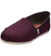 Toms Classic Black Cherry Womens Canvas Espadrilles Shoes