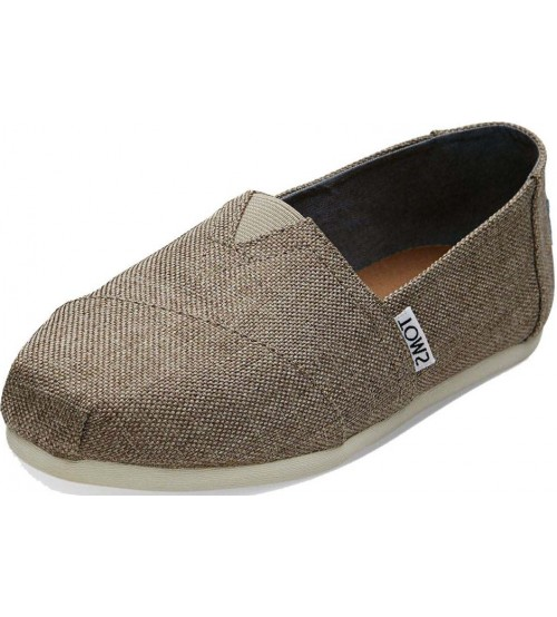 Toms Classic Taupe Womens Canvas Espadrilles Shoes