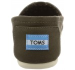 Toms Classic Tarmac Olive Womens Canvas Espadrilles Shoes