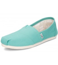 Toms Classic Turquoise Womens Canvas Espadrilles Shoes