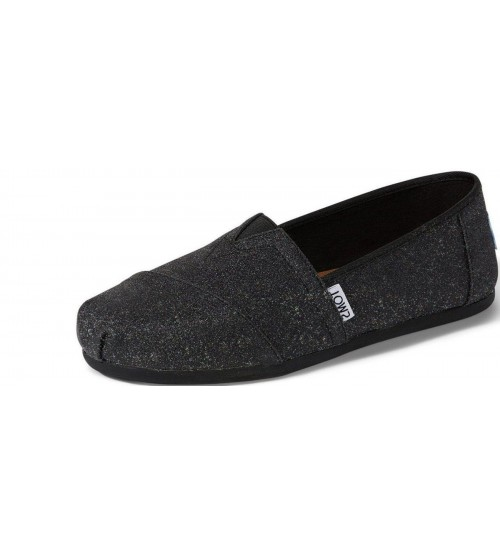 Toms Classic Black Glimmer Womens Espadrilles Shoes