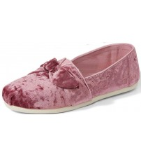 Toms Classic Faded Rose Bow Velvet Womens Espadrilles Shoes