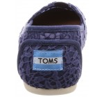 Toms Classic Blue Lace Leaves Womens Espadrilles Shoes