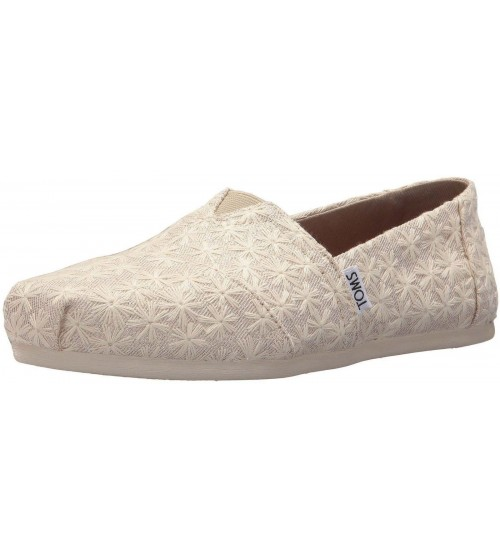 Toms Classic Natural Daisy Metallic Womens Espadrilles Shoes