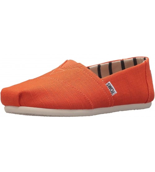 Toms Classic Tangerine White Womens Espadrilles Shoes