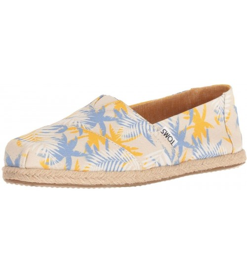 Toms Classic Tropical Palm Rope Womens Espadrilles Shoes