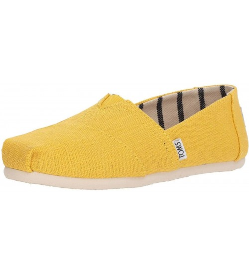 Toms Classic Yellow White Womens Espadrilles Shoes