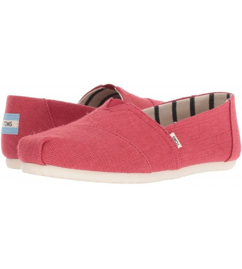 Toms Classic Apple Red Womens Espadrilles Slipons Shoes