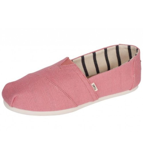 Toms Classic Pink White Heritage Womens Espadrilles Shoes