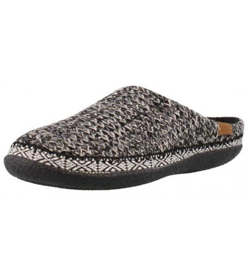 Toms Ivy Black White Sweater Knit Womens Slippers Shoes