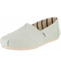 Toms Classic Aqua Glass Heritage Womens Canvas Espadrilles Shoes