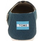 Toms Classic Majolica Blue Heritage Womens Canvas Espadrilles Shoes