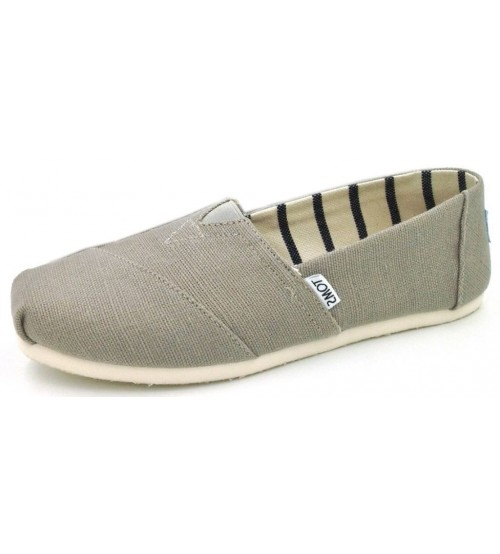 Toms Classic Morning Dove Heritage Canvas Womens Espadrilles Shoes