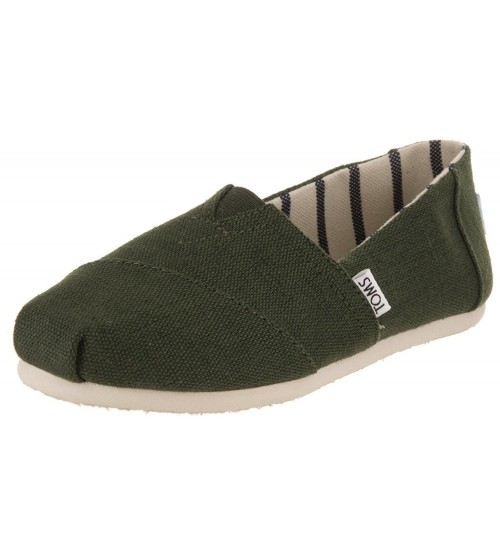 Toms Classic Pine Heritage Canvas Womens Espadrilles Shoes