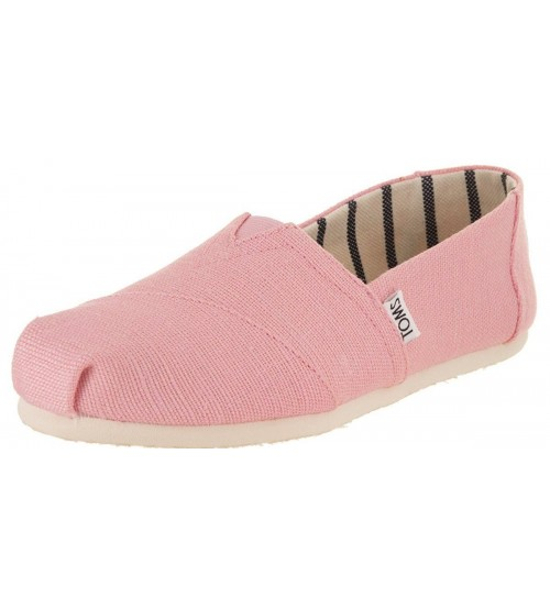 Toms Classic Powder Pink Heritage Canvas Womens Espadrilles Shoes
