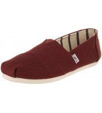 Toms Classic Black Cherry Heritage Canvas Womens Espadrilles Shoes