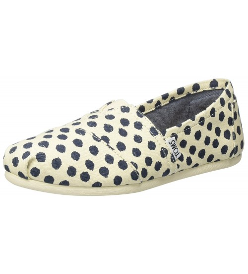 Toms Classic Natural Polka Dot Womens Espadrilles Shoes