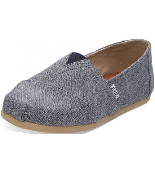 Toms Classic Navy Chmabray Mens Canvas Espadrille Shoes