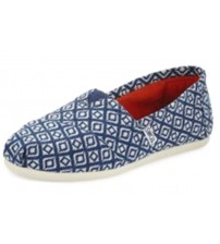Toms Classic Navy Diamond Woven Womens Espadrilles Shoes Slipons