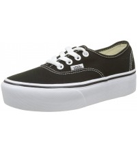 Vans Authentic Platform 2.0 Black White Womens Canvas Trainers