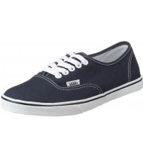 Vans Authentic Lo Pro Navy White Womens Canvas Trainers Shoes