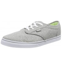 Vans Atwood Low Grey White Womens Canvas Trainers Shoes