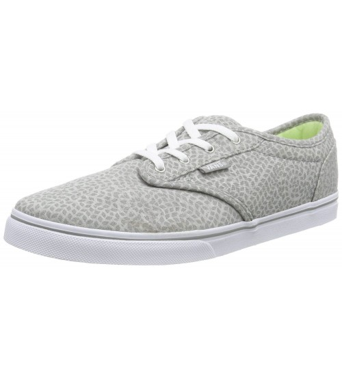 ff4314ea81 Vans Atwood Low Grey White Womens Canvas Trainers Shoes