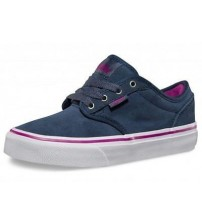 Vans Atwood Grey White Kids Youth Suede Lo Trainer Shoes
