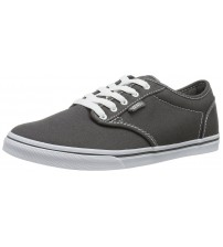 Vans Atwood Low Charcoal White Womens Canvas Trainers Shoes