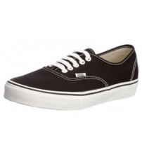 Vans Authentic Black White Canvas Unisex Skate Trainers Shoes