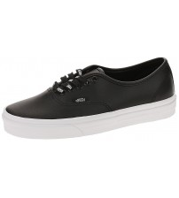 Vans Authentic Black White Womens Leather Trainers