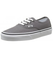 Vans Authentic Grey White Unisex Canvas Skate Trainers Shoes