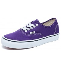 Vans Authentic Purple White Canvas Womens Trainers